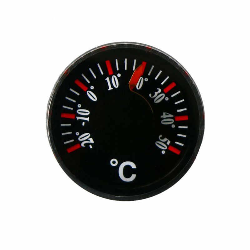 Mini Rotonda di Diametro 20mm Esterna Impermeabile di Plastica Circolare Auto Termometro puntatore Gradi Celsius Termometro