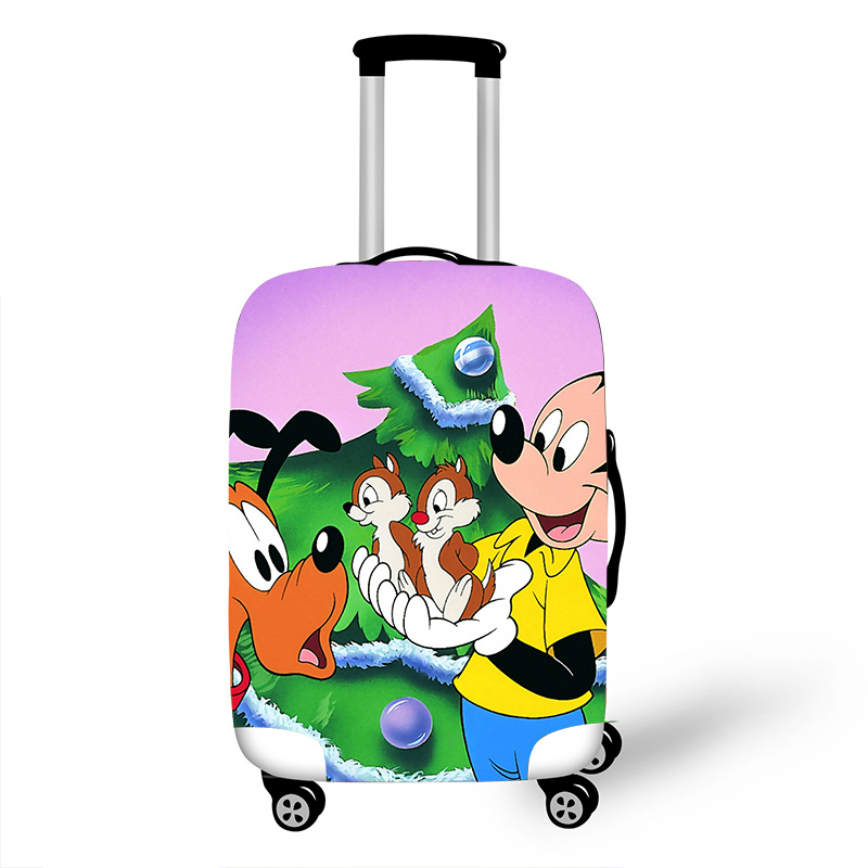 Luggage Protective Cover Case For Elastic 18-32 Inch Suitcase Protective Cover Cases Covers Travel Accessories Mickey Christmas