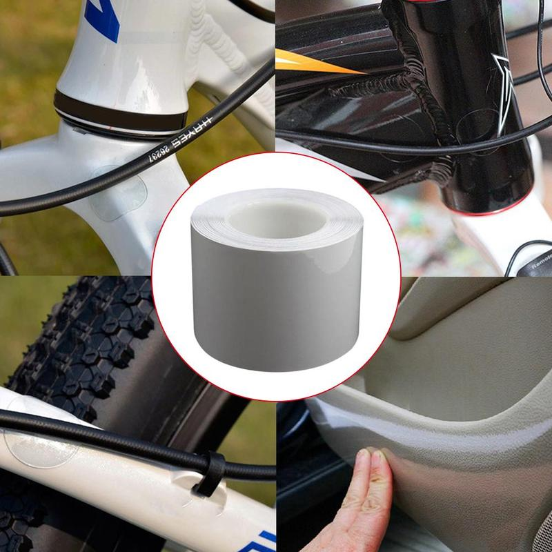 15*100cm Bike Bicycle Frame Protector Clear Wear Surface Tape Film Anti Rub Affixed Sticker To Cycle Frame Protector Sticker title=