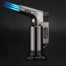 Kitchen Outdoor BBQ Lighter Torch Turbo Pipe Gas Jet Lighters Butane Cigarette 1300 C Spray Gun Cigar Windproof 3 Nozzles Fire