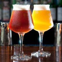 Бокал ручной работы, бокал для пива, 400 мл, 15 унций, бокал для красного вина, подходящий для дома, бара, отеля, ресторана, стеклянный набор для в...