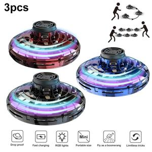 Fidget Finger Spinner Mini Flying Gyro Outdoor Gaming Fly UFO Drone Kids Toy Fidget Roller With Intelligent induction system