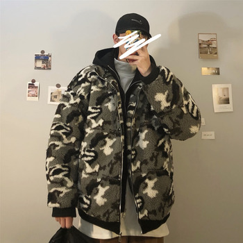 Winter Jacket Men's Warm Fashion Parka Men Military Style Camo Hooded Coat Mens Streetwear Fake Two Thick Jackets Male Clothes