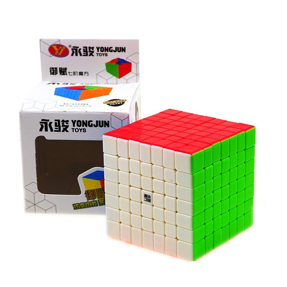 YJ YuFu 7x7x7 Magic Cube 7Layers Stickerless Speed Magic Cubes Profissional Puzzle Toys For Children Gift Toy 7x7 Cubo Magico