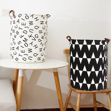 Foldable Laundry Basket Organizer Round Storage Bin Bag Large Hamper Collapsible Clothes Toy Basket Bucket Organizer