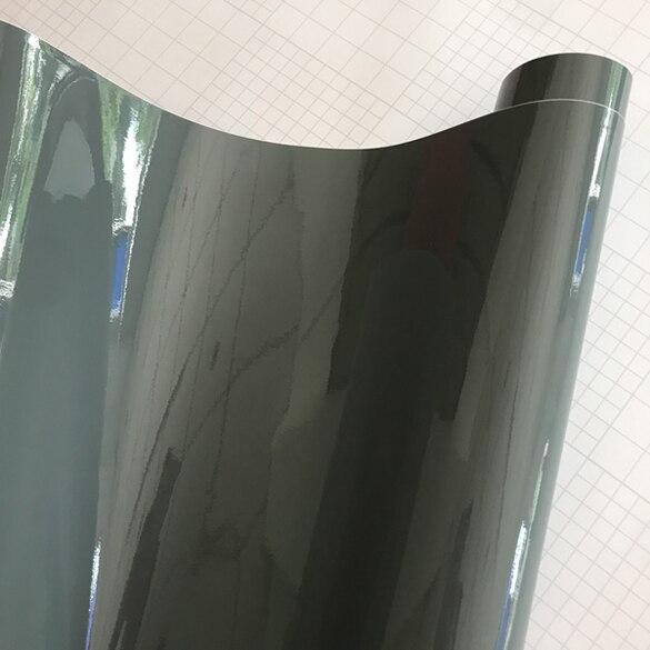 10/20/30/40/50X152 см Глянцевая красная виниловая пленка стикер глянцевый автомобиль обертывание Фольга Наклейка на автомобиль, скутер, мотоцикл обертывание ping Air Bubble бесплатно - Название цвета: Cement Grey