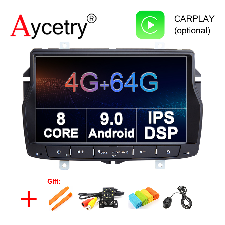 Aycetry IPS DSP 8 Core 4G 64G Android 9 Car Multimedia player dvd GPS Navigation Autoradio