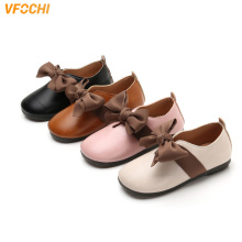 VFOCHI New Girls Leather Shoes for Kids Low Heeled Girls Cas