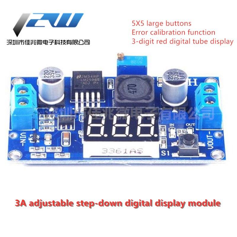 Convertisseur de tension réglable LM2596 cc, régulateur de tension, affichage du voltmètre, adaptateur LED ~ 40 à 4.0-37V