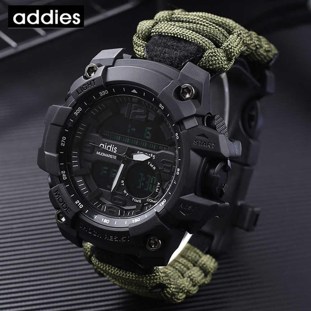AIDIS 2019 Men กีฬานาฬิกาเข็มทิศกลางแจ้ง top luxury ยี่ห้อ G สไตล์ทหารนาฬิกากันน้ำ relogio masculin