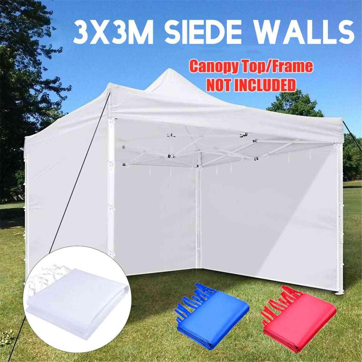 3x3m ผ้า Oxford เต็นท์เดี่ยว Sidewall กันน้ำสวนลานกลางแจ้ง Sun Wall ผ้าบังแดด Sidewall บังแดดสีแดง