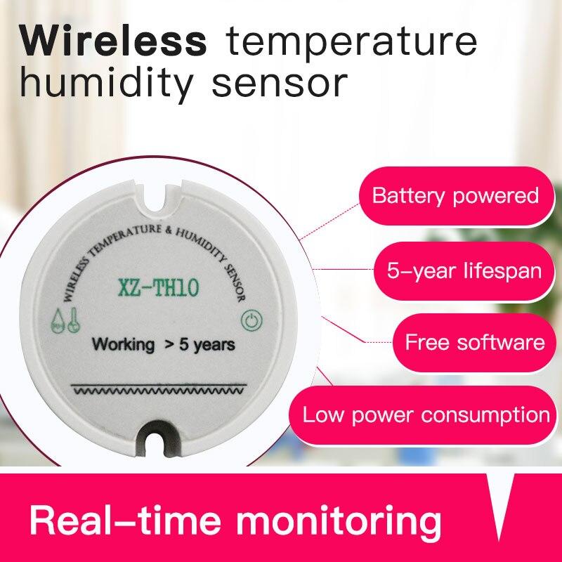 Image 2 - 433 МГц rf беспроводной датчик влажности Измеритель температуры и влажности система мониторинга температуры и влажности-in Фиксированные беспроводные терминалы from Мобильные телефоны и телекоммуникации