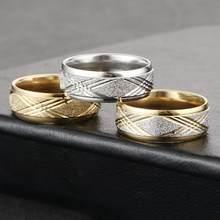 Мужские 8 мм кольца из нержавеющей стали стразы кольцо для пары влюбленных обручальные кольца модные ювелирные изделия Размер 6,5-11,5