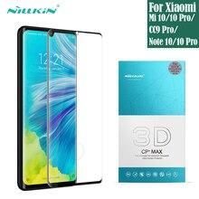 Protector de pantalla de cristal templado para Xiaomi, película protectora completa para Xiaomi Mi Note 10 Pro Mi 10 Pro CC9 Pro, Nillkin 3D CP + Max