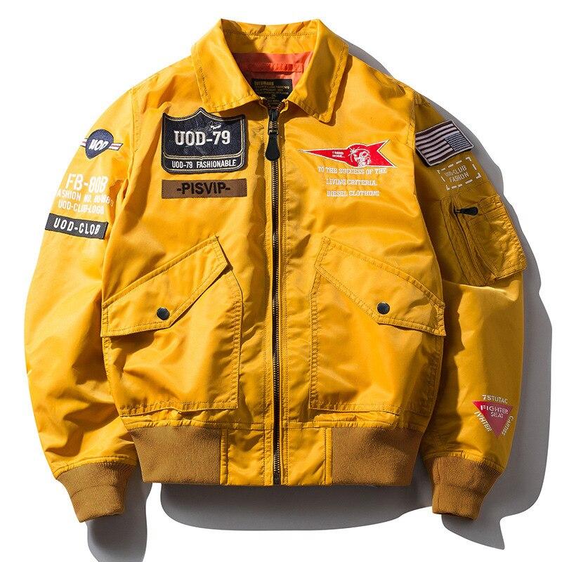 New Bomber Jacket Men Spring Autumn Streetwear Air Force Jacket Male Military Windbreaker Hip Hop