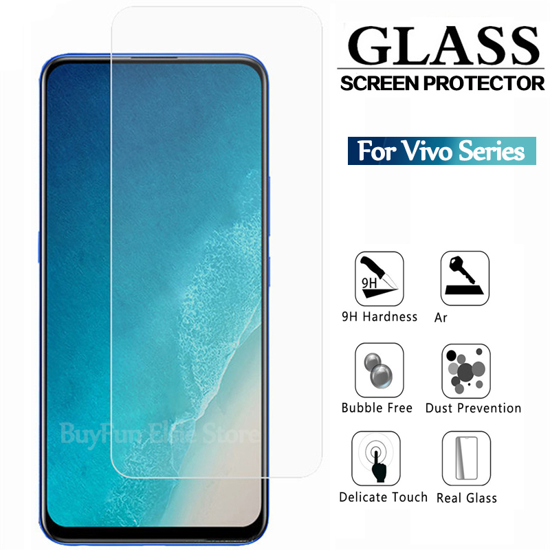 Tempered Glass For Vivo V15 V11 Pro V11i V9 V7 V5 Plus Screen Protector Glass On V 15 11 11i 9 7 2 Plus Protective Glass Film