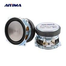 Aiyima 2 pcs 2 인치 오디오 전체 범위 스피커 유닛 52mm 8 옴 10 w 업 리프팅 각도 방수 사운드 스피커 드라이버 diy 홈 시어터