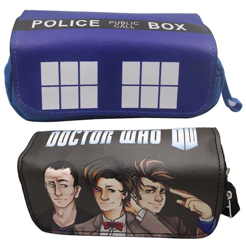 Dr.Who Tardis cotton print /& Faux Leather shoulder bag or crossbody bag