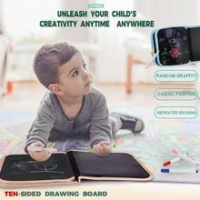 лучшая цена Portable Soft Graffiti Erasable Drawing Animal Picture Book DIY Drawing Board M0912