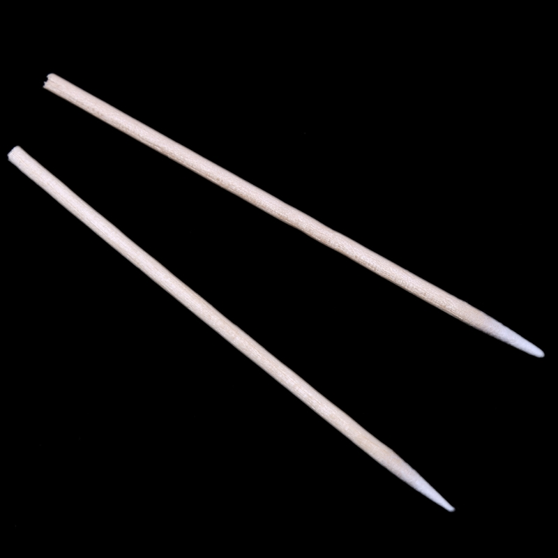100Pcs Cotton Disposable Stick Clean Tool For AirPods Earphone Phone Charge Port DXAC