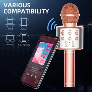 Image 4 - Microphone Wireless Bluetooth Karaoke Microphone Professiona Speaker Handheld Microfone Player Singing Recorder Mic microfono