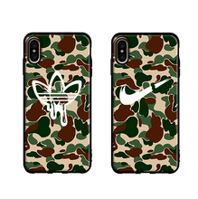 Camo Sports Soft Case For Iphone 11 Pro X Xs Max Xr 8 7 6 6s Plus Silicone Phone Cover Army Green Brand Logo Matte Coque Fundas цена и фото