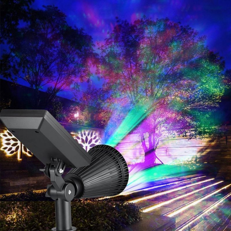 4/7LED RGB Solar Garden Light Outdoor Decoration Pathway Waterproof LED Solar Powered Lawn Light Street Landscape Yard Lamp Decorative Stakes & Wind Spinners     - title=