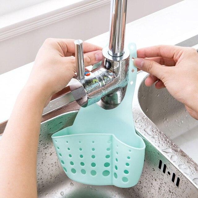 Фото креативная кухонная корзина сливная полка ситечко для ванной