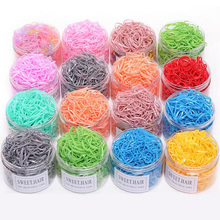 1000PCS/Pack Candy Color Disposable Elastic Hair Bands Ponytail Holder Rubber Bands Headband Gum For Women Fashion Hair Accessor