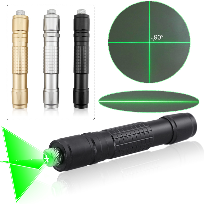 CWLASER High Power Line Beam/ Cross Beam Focusable 532nm Green Laser Pointer Green Burning Laser Flashlight (3 Colors)