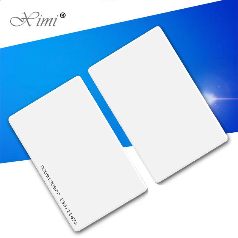 Cartão esperto da proximidade da identificação/ic para o sistema tk4100/em4200/f1108chip125khz/mf13.56mhz do controle de acesso e do comparecimento do tempo cartão rfid