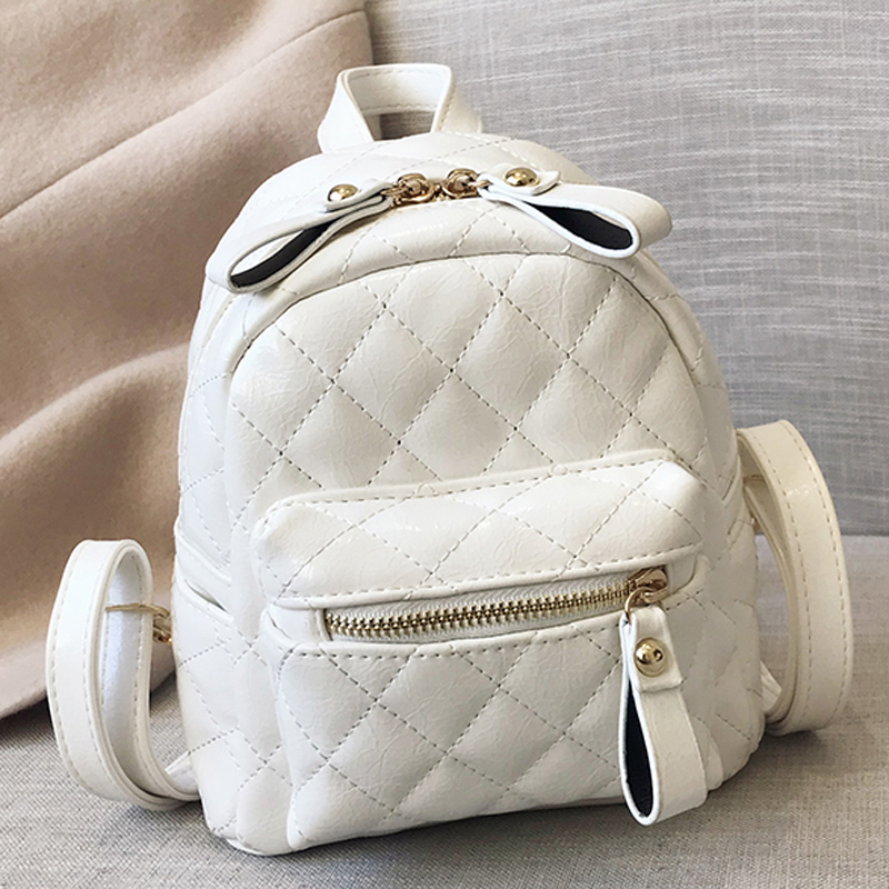 Female Soft PU Leather Backpacks Student School Bag Backpack For Girls Shoulder Bags Women Fashion Small Casual Mochila Feminina