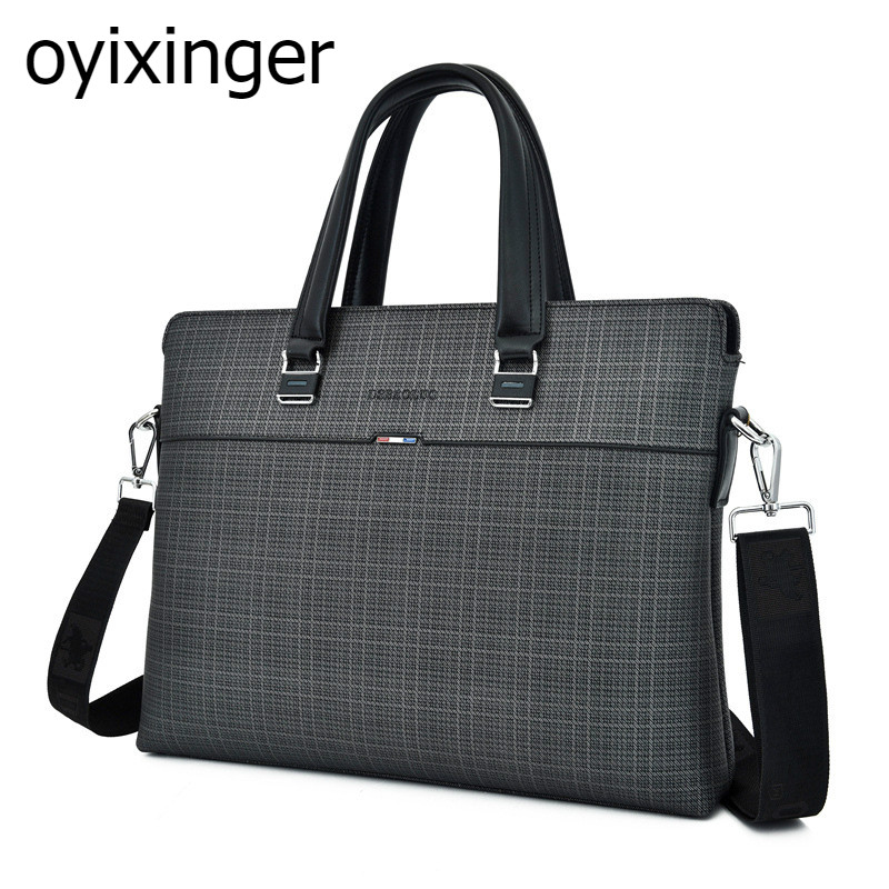 2020 New Men's Briefcase Men Handbag Business A4 File Laptop Leather Bag Male Shoulder Bandolera Bolso Carteras Hombre Sac Homme