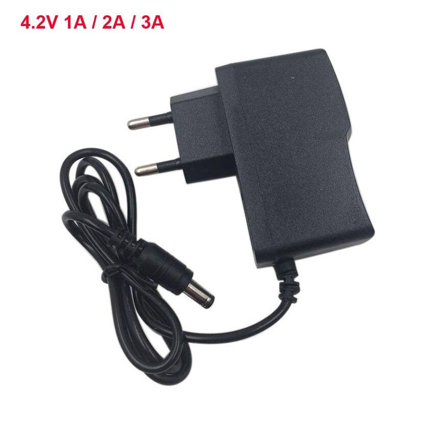 Умное зарядное устройство переменного тока 100-240 В постоянного тока 4,2 в 1A 2A для 3,6 В 3,7 в 1S литий-ионный Литий-полимерный аккумулятор 18650 заряд...