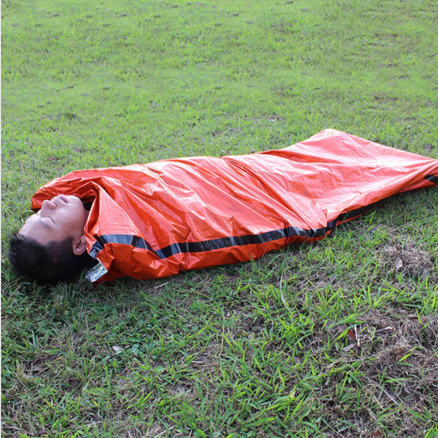 Outdoor Sleeping Bags Portable Emergency Sleeping Bags Light-weight Polyethylene Sleeping Bag For Camping Travel Hiking