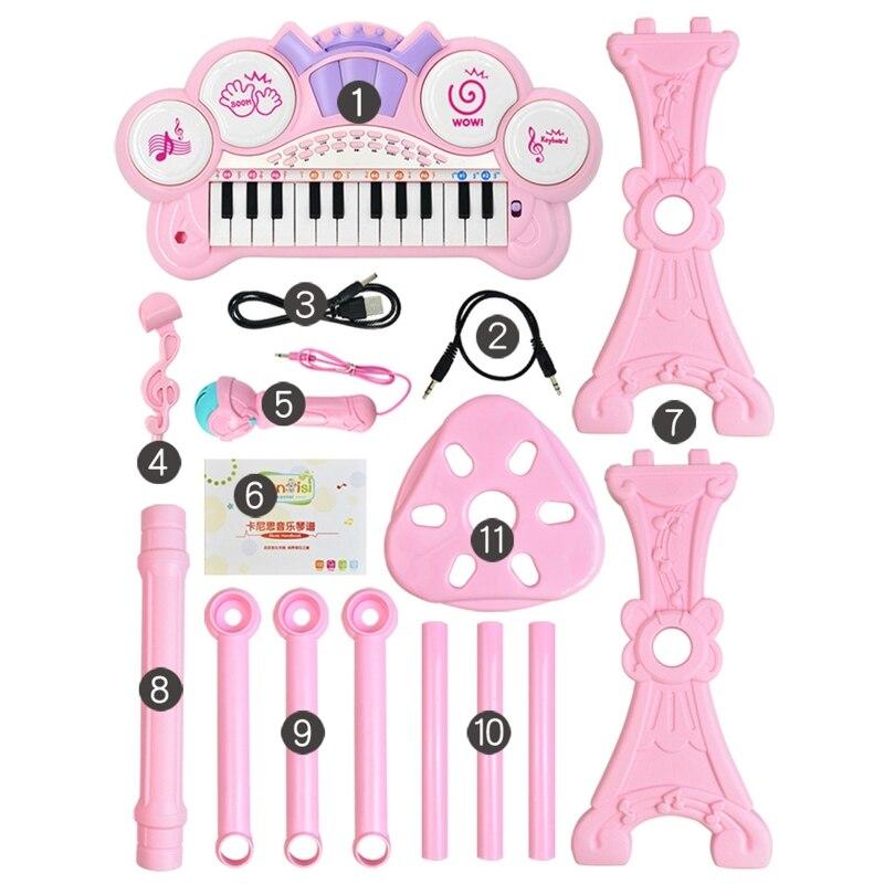 24 teclas de teclado eletrônico piano órgão
