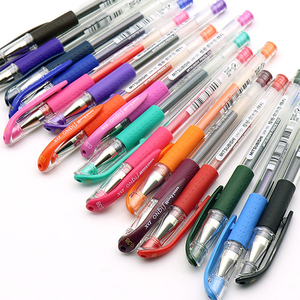 Image 5 - 12 шт./лот UNI UM 151 ручка на водной основе 0,38 мм цветная гелевая ручка Двусторонняя Шариковая ручка для письма гладкая многоцветная