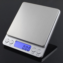 Portable Digital Bead Scale Kitchen Household Food Scale 0.1g Precision Electronic Scale Platform Scale Metal Measuring Spoons