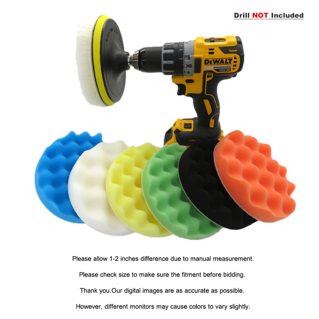 5/6/7 Inch 8Pcs/Set Car Polishing Pads Kit Clean Sponge Waxing Buffing Pad  M14 Thread Wool Ball Auto Backer Pad Car Repair Care 5