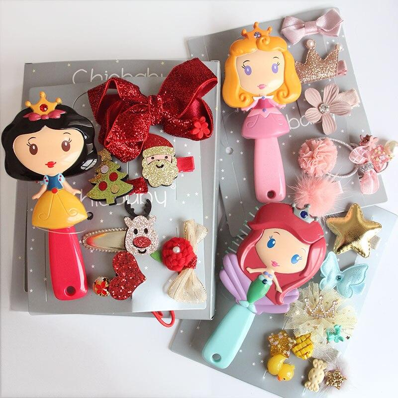 Disney Frozen peine princesa Anna Elsa figura de acción antiestático cepillos para el cuidado del cabello niñas vestido de cumpleaños regalo de los niños