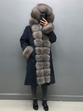 Mid-length pie to overcome ladies' real mink fashion fur coat fur collar rabbit fur lining to keep warm in winter Europe