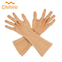 Hoch Simulierte Haut Hülse Gefälschte Silikon Hand Prothese Künstliche Silikon Alte Männer Hand Handschuhe Abdeckung Narben Für Hand Verletzungen