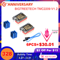 BIGTREETECH TMC2209 V1.2 Драйвер шагового двигателя UART VS TMC2208 TMC2130 A4988 Запчасти для 3D-принтера Ender 3 SKR V1.3 mini E3 Board