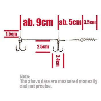 Best No1 Fishing Steel wire screw center pin flexhead Fishing Lures cb5feb1b7314637725a2e7: White