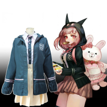 Anime Danganronpa Cosplay Costumes Chiaki Nanami Costume School Uniform Halloween Carnival Party Women