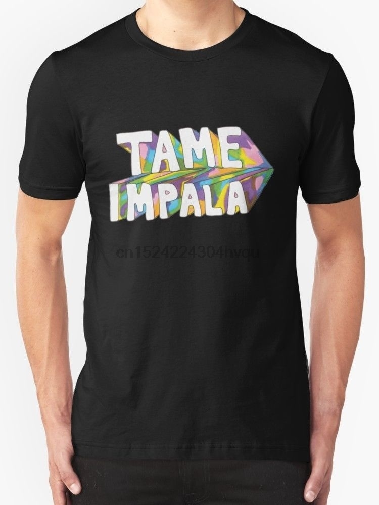 100% Cotton Comfortable Short Sleeves Tame Impala Fashion Men's Black T-Shirt women tshirt