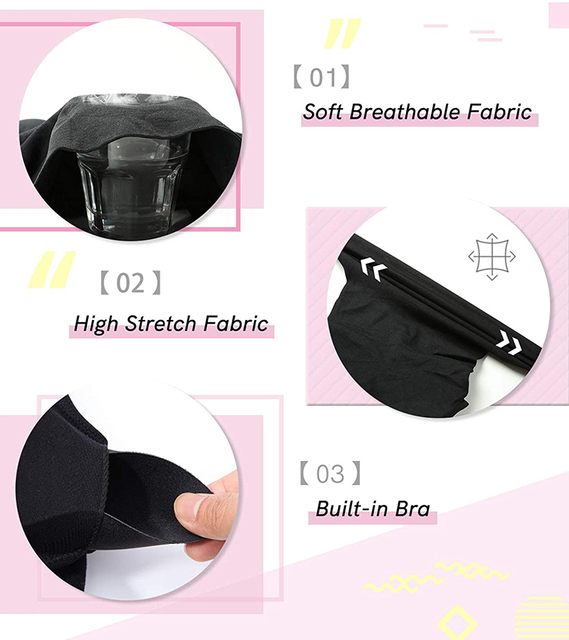 Women Cami Shaper with Built in Bra Tummy Control Camisole Tank Top Underskirts Shapewear Slimming Body Shaper Compression Vest 5