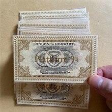 1 шт. hp Movie Wizard Potter хогварт школьный билет Harried коллекция качественная крафт-бумага Золотое Тиснение подарок