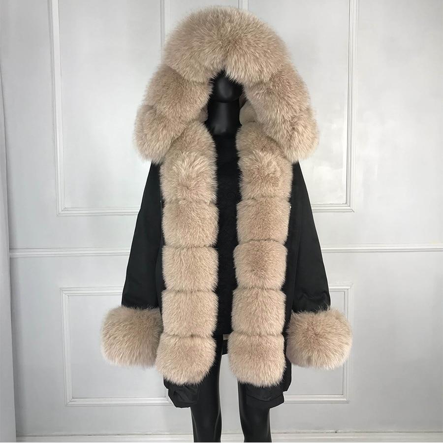 Real fox fur parka women inside real fur lined parkas with fox fur hood women parkas
