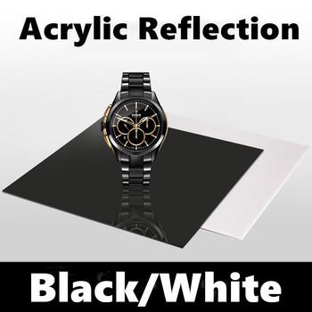 Zdjęcie odbicie płyta czarno-białe zdjęcie odbicie płyta tło płyta nie akrylowe odbłyśnik obrotowe strzelanie rekwizyty tanie i dobre opinie NoEnName_Null CN (pochodzenie) Szkło Malowane natryskowo Jednolity kolor